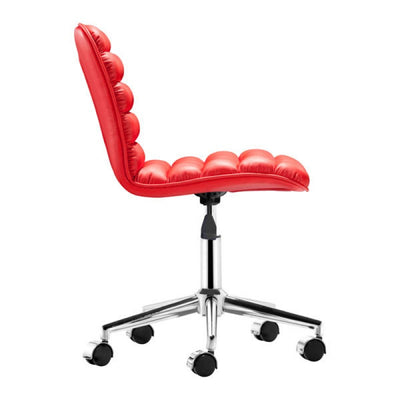 Sleek Red Armeless Office or Conference Chair