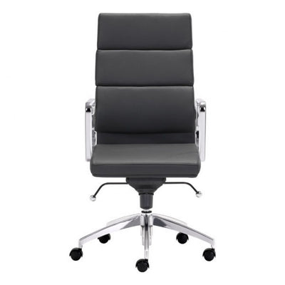 Timeless High-Back Black Leatherette Office Chair