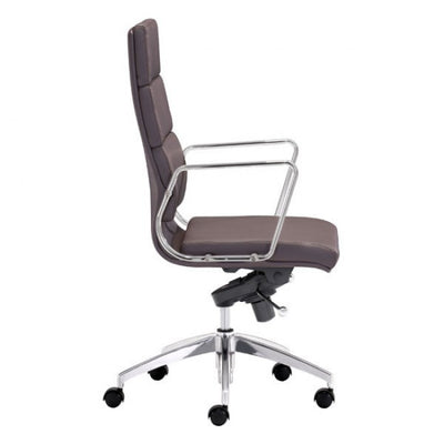 Timeless High-Back Espresso Leatherette Office Chair