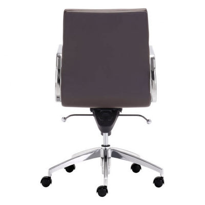 Timeless Low-Back Espresso Leatherette Office Chair