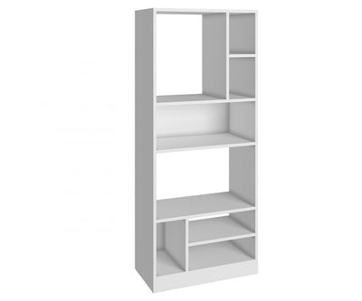 Wide White Bookcase in Sleek & Clean Style