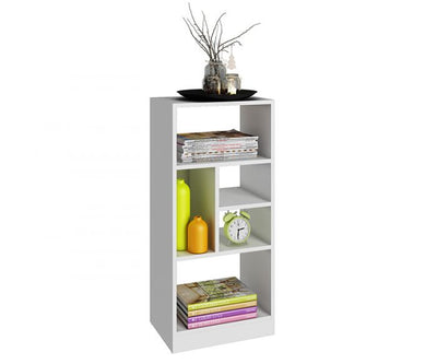 Medium-Sized White Bookcase in Sleek & Clean Style