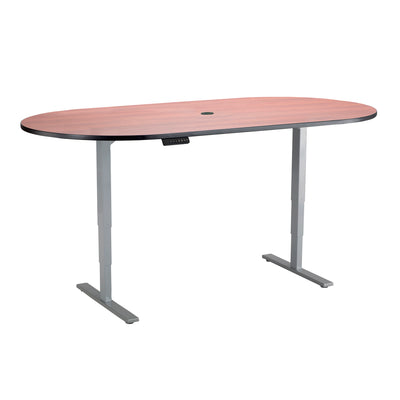 "84"" Meeting Table with Adjustable Height and Finish Options"