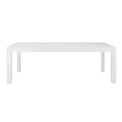"63"" - 83"" Modern Executive Desk or Conference Table in White Lacquer"