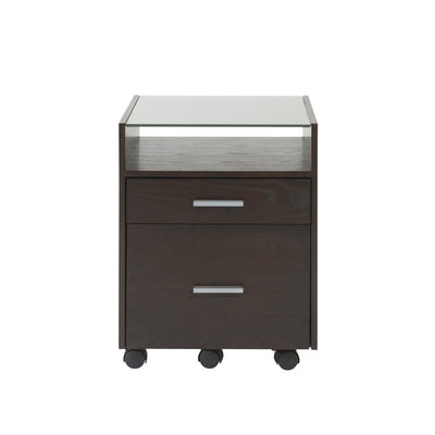 Tempered Glass Top Filing Cabinet