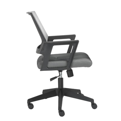 Traditional Gray and Black Mesh Office Chair