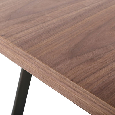 "Simple 79"" Executive Office Desk w/ Walnut Veneer"