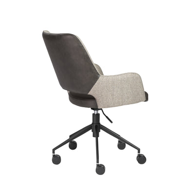 Light Gray Fabric & Dark Gray Leatherette Tilting Office Chair