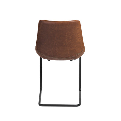 Brown Leatherette Guest or Conference Chairs with Baseball Stitching (Set of 2)