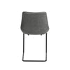 Grey Leatherette Guest or Conference Chairs with Baseball Stitching (Set of 2)