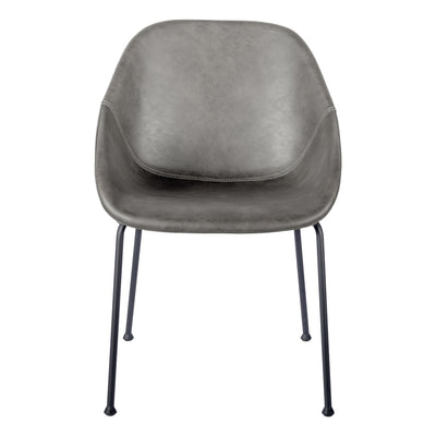 Dark Gray Conference / Guest Chair with Black Steel Base (Set of 2)