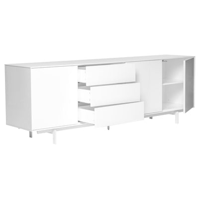 Gorgeous Office Credenza w/ White Lacquer