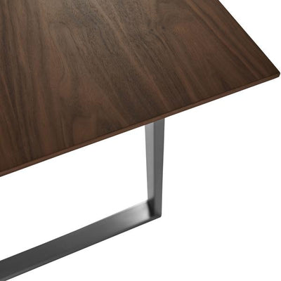 "Walnut & Brushed Stainless Steel 84"" Executive Desk or Conference Table"