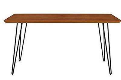 "60"" Walnut Office Desk with Black Hairpin Legs"
