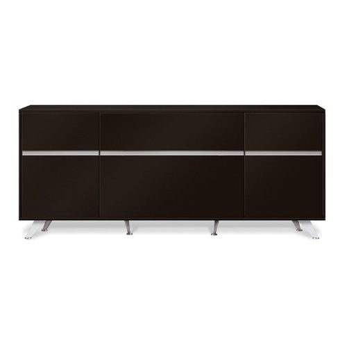 "Modern Espresso 63"" Storage Credenza with File Drawer (ASSEMBLED)"