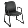 Heavy Duty Guest or Conference Armchair in Black Vinyl