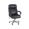 Heavy Duty Rolling Leather Desk Chair in Black