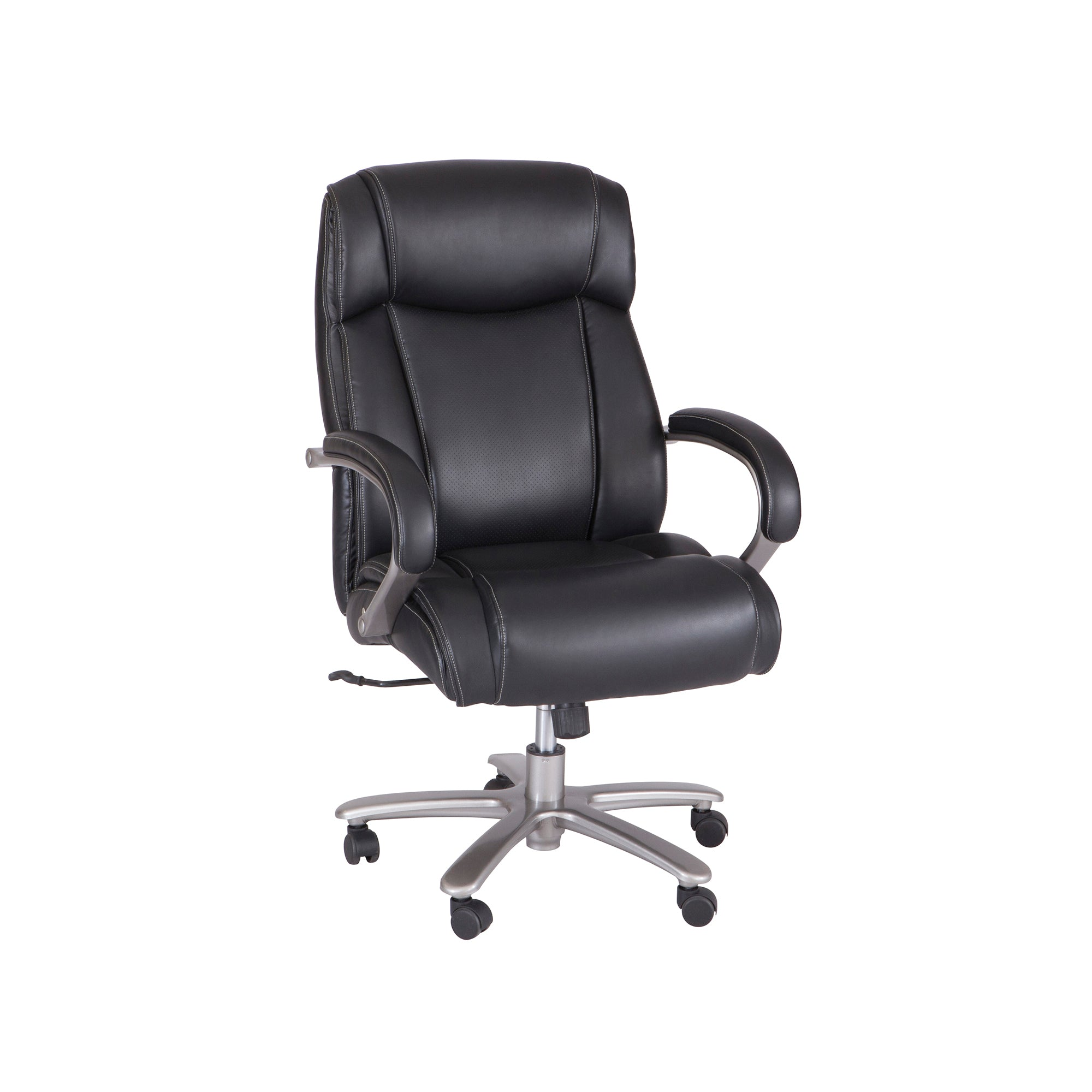 Strange Heavy Duty Rolling Leather Desk Chair In Black Pabps2019 Chair Design Images Pabps2019Com