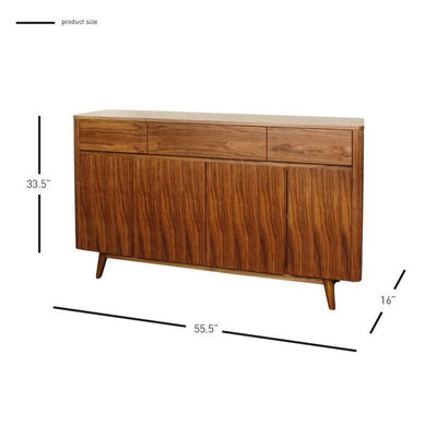 Gorgeous Storage Credenza of Walnut and Teak