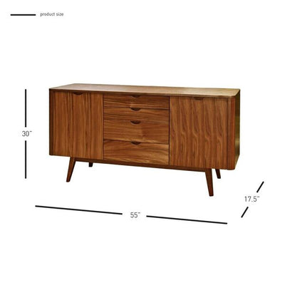 Eye-Catching African Teak Storage Credenza