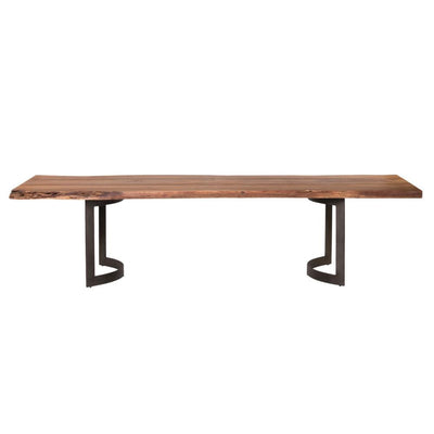 "118"" Solid Acacia Modern Conference Table with Sturdy Iron Base"