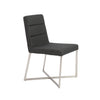 Understated Padded Charcoal Gray Guest or Conference Chair (Set of 2)