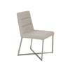 Understated Padded Light Gray Guest or Conference Chair (Set of 2)