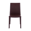 Timeless Brown Leather Guest or Conference Chair (Set of 4)