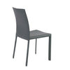Timeless Gray Leather Guest or Conference Chair (Set of 4)