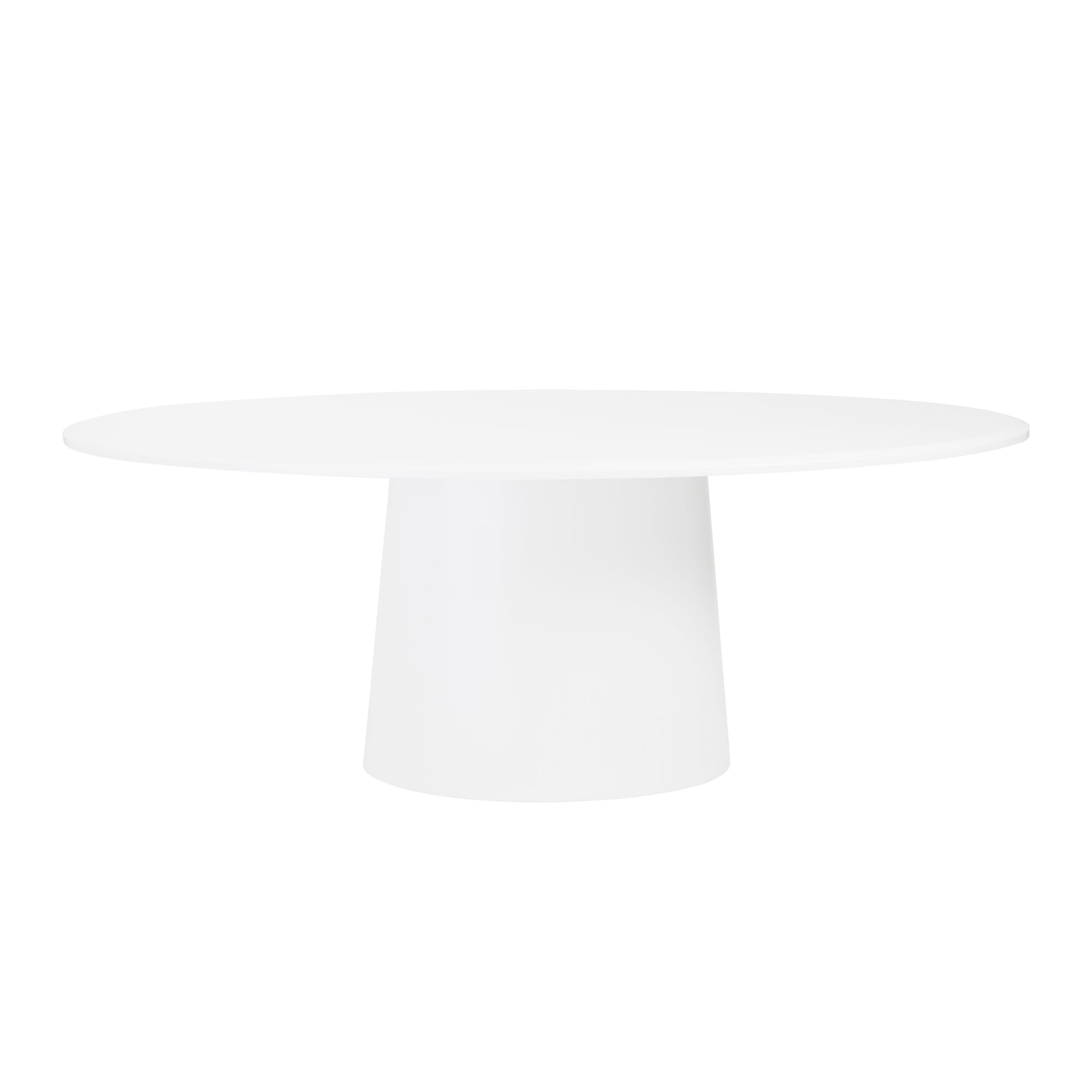 Modern White Lacquer Oval Conference Table Or Executive Desk - White oval conference table
