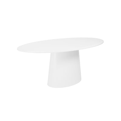 "Modern White Lacquer 79"" Oval Conference Table or Executive Desk"