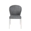 Simple Gray Fabric Guest or Conference Chairs (Set of 4)