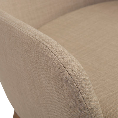 Classic Tan Fabric Guest or Conference Armchair (Set of 2)