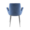 Blue Velvet & Brushed Steel Guest or Conference Chair