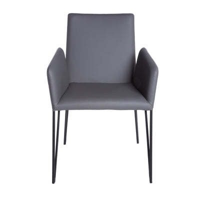 Dark Gray Padded Leatherette Conference or Guest Armchair