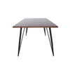 "71"" Walnut and Black Meeting Table or Executive Desk"