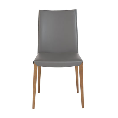 Unique Leatherette Guest or Conference Chair in Soft Gray (Set of 2)