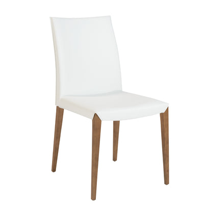 Unique Leatherette Guest or Conference Chair in White (Set of 2)