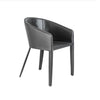 Black Guest or Conference Chair in Leather & Steel