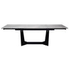 "Versatile 63"" - 95"" Gray & Black Extending Executive Desk or Conference Table"