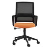 Classic Orange & Black Mesh Office Chair