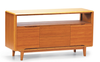"Solid Bamboo 54"" Credenza in Caramel Finish"