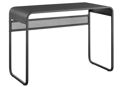 "42"" Urban Grey Metal Writing or Computer Desk w/ Curved Top"