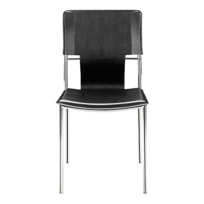Classic Black Leatherette Guest or Conference Chair (Set of 4)