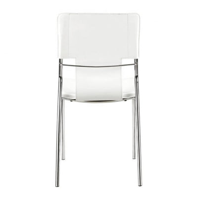 Classic White Leatherette Guest or Conference Chair (Set of 4)
