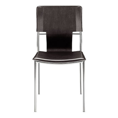 Classic Espresso Leatherette Guest or Conference Chair (Set of 4)