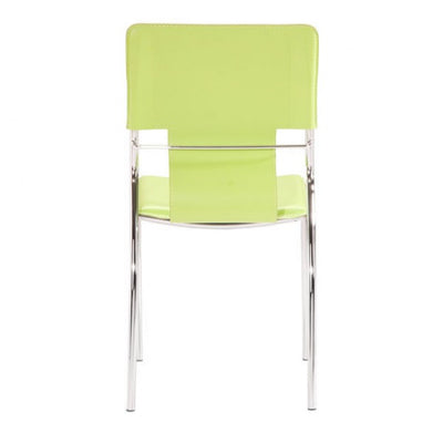 Classic Green Leatherette Guest or Conference Chair (Set of 4)