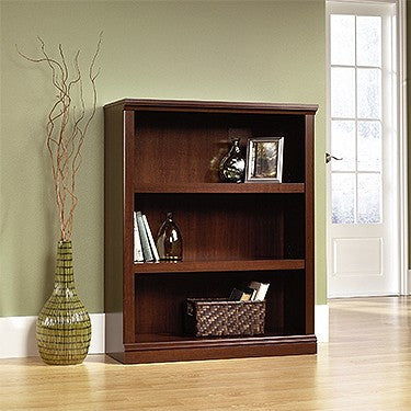 "44"" Tall 3-Shelf Bookcase in Select Cherry Finish"