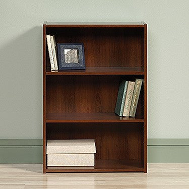 "35"" Three-Shelf Bookcase in Brook Cherry Finish"
