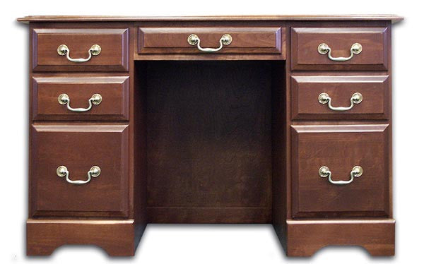 48 Quot Handcrafted Solid Cherry Double Pedestal Desk With